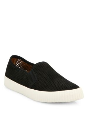 Photo of Camille Perforated Nubuck Skate Sneakers by Frye - shop Frye shoes sales