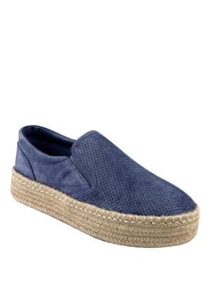 Emilia3 Perforated Leather Espadrilles by Tretorn