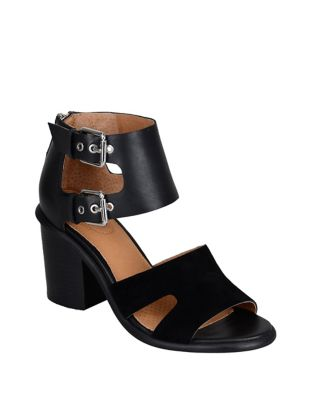 Leather Ankle Strap Sandals by Corso Como