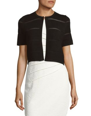 Textured Short Sleeve Cardigan by Calvin Klein Plus