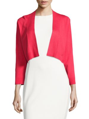 Cropped Open Front Cardigan by Calvin Klein Plus