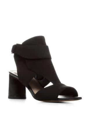 Haruna Leather Block-Heel Sandals by Donald J Pliner