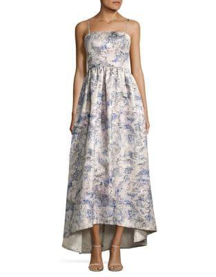 Sleeveless Brocade Gown by Vera Wang