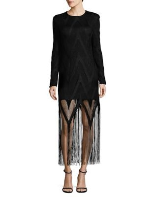 Rita Mesh-Overlay Shift Dress by Misha Collection