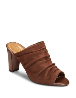 Open Road Tailored Peep Toe Mules by Aerosoles