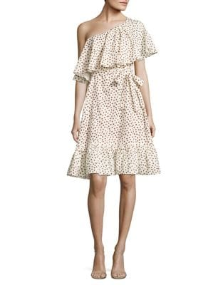 Harper Printed One-Shoulder Dress by Paper Crown