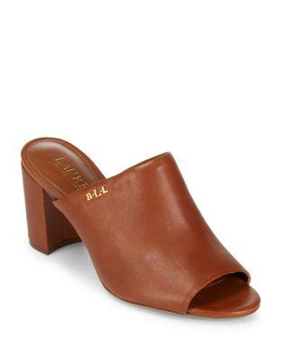 High Heel Leather Mules by Lauren Ralph Lauren