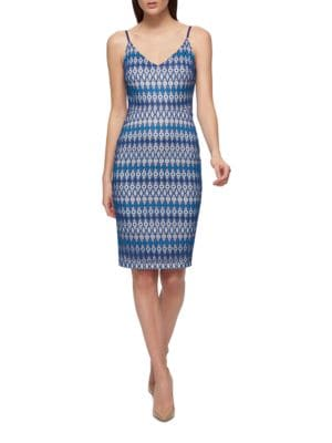 Geometric Print Dress by Guess