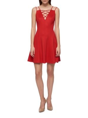 Embossed Chevron Dress by Guess