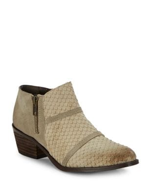 Almond-Toe Leather Ankle Boots by Charles by Charles David