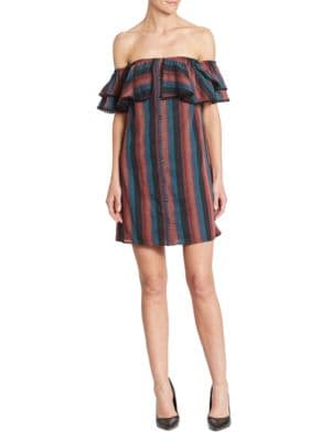 Raven Off-The-Shoulder Ruffle Dress by Wayf