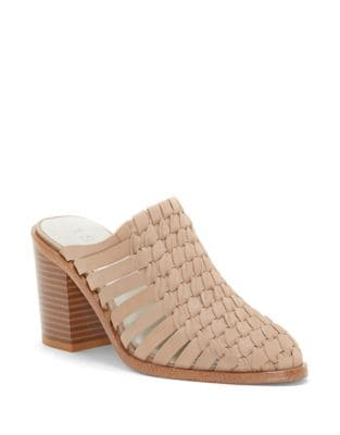 Licha Suede Woven Mules by 1.STATE