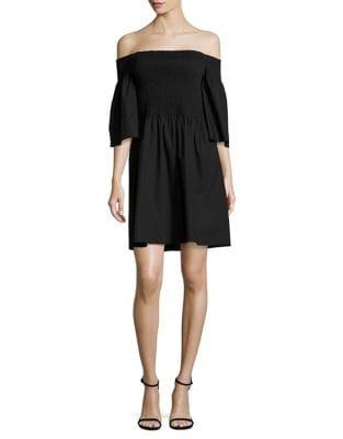 Off-the-Shoulder Smocked Dress by Mika & Gali