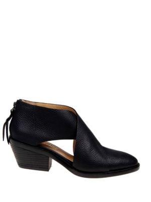 Danele Leather Zipper Booties by Splendid