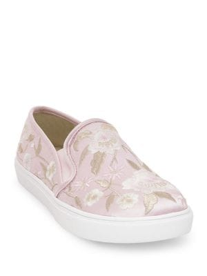 Esme Floral Embroidery Slip-On Sneakers by Betsey Johnson