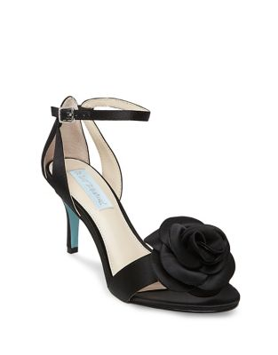 Madi Flower Ankle Strap Dress Sandals by Betsey Johnson