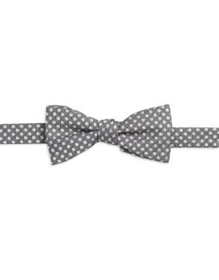 Dotted Silk Bow Tie @...