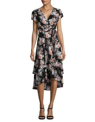 Layered Wrap Floral Dress by Wayf