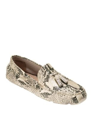 Rodeo Snake Embossed Leather Tassel Drivers by Cole Haan