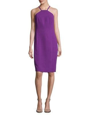 Cutout Back Halterneck Dress by Calvin Klein
