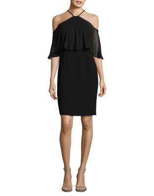 Crepe Halterneck Dress by Calvin Klein