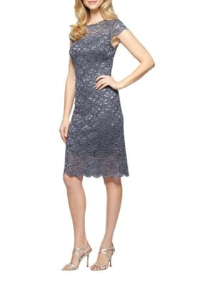 Sheath Lace Dress by Alex Evenings