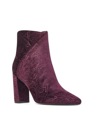 Argyle Textured Velvet Booties by Nine West