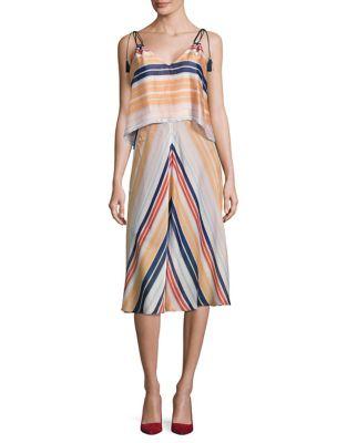 Striped Popover Midi Dress by RACHEL Rachel Roy