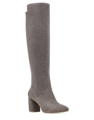 Kerianna Suede Stretch Tall Boots by Nine West