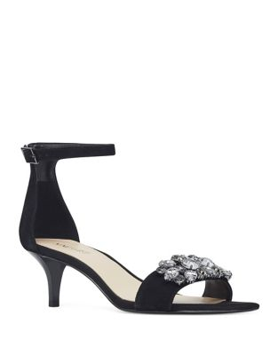 Lecia Suede Ankle-Strap Sandals by Nine West