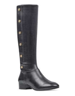 Oreyan Wide Calf Leather Boots by Nine West