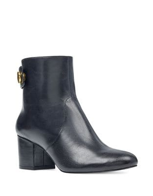 Quarryn Leather Booties by Nine West
