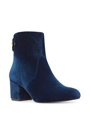 Photo of Quarryn Velvet Booties by Nine West - shop Nine West shoes sales