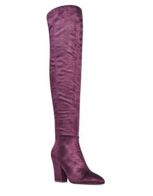 Photo of Siventa Velvet Over The Knee Boots by Nine West - shop Nine West shoes sales