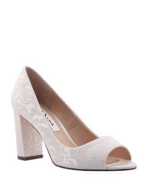 Farlyn Embroidery Peep Toe Pumps by Nina