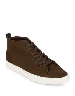 Woven High-Top Sneakers 500087158844