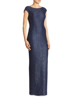 Sequin Knit Gown by St. John