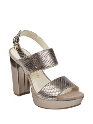 Lorrie Textured Platform Heels by Anne Klein