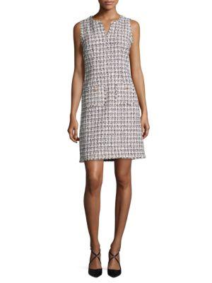 Sleeveless Tweed Dress by Karl Lagerfeld Paris