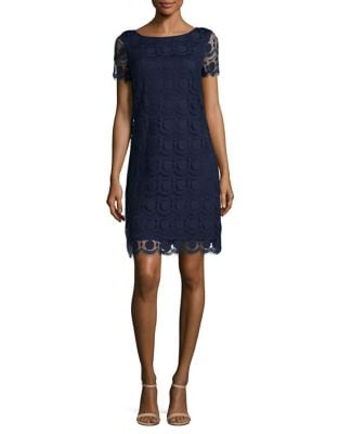 Embroidered Lace Shift Dress by Vince Camuto