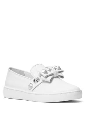 Val Studded Leather Slip-On Sneakers by Michael Kors Collection