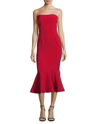 Strapless Trumpet Hem Dress by Xscape