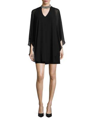 ??mbellished Choker Overlay Dress by Xscape