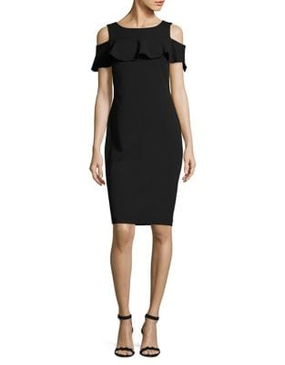 Ruffled Cold-Shoulder Dress by Calvin Klein