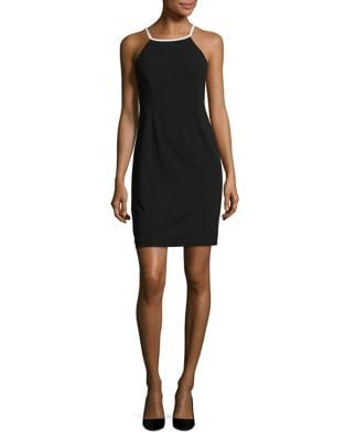 Multiple Strapped Halter Dress by Calvin Klein