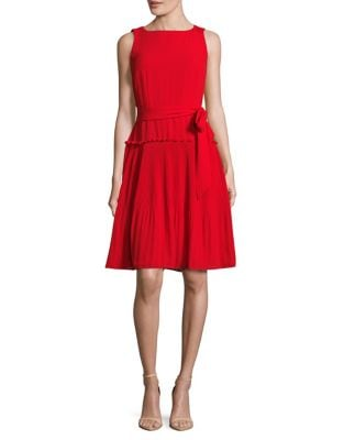Pleated Flared Dress by Ivanka Trump