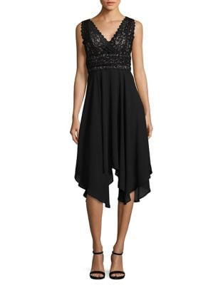 Lace-Trimmed Asymmetrical Dress by Ivanka Trump
