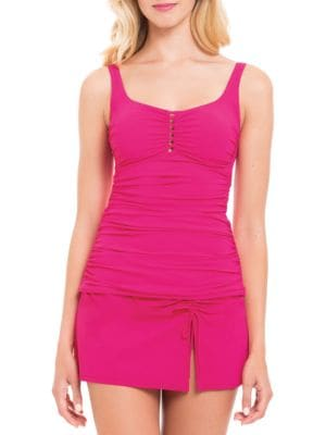 Ruched Tankini Swimsuit Top by Profile By Gottex