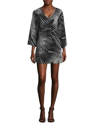 Printed Crepe Cover-Up Tunic by J Valdi