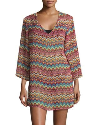 Printed Tunic Coverup by J Valdi